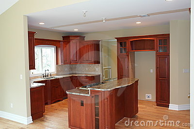 Partially furnished kitchen