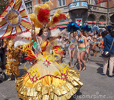 Participant at copenhagen carnival 2012 Editorial Photo