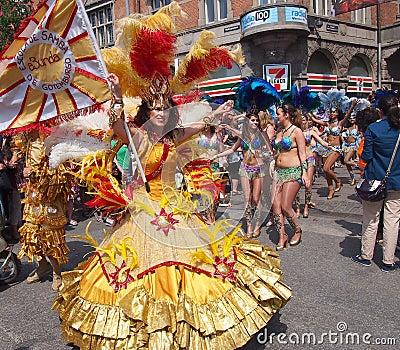Participant at copenhagen carnival 2012 Editorial Photo