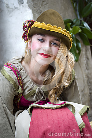 Participant of medieval costume party Editorial Image