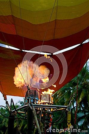Participants blow up balloon Editorial Photo