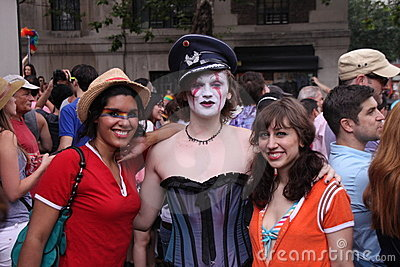 Participants in gay parade Editorial Stock Photo