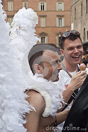 Participants at gay pride 2012 of Bologna Editorial Image