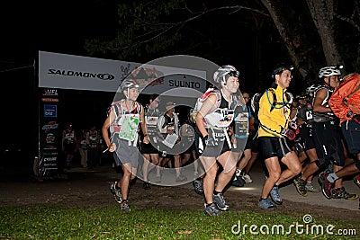 Participants kickstart early morning race Editorial Stock Photo