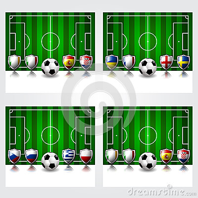Participating of Europe the soccer football