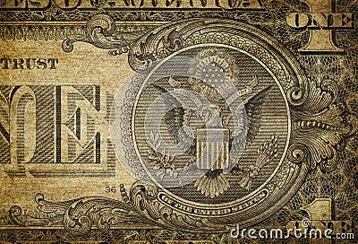 Particolare del Bill del dollaro