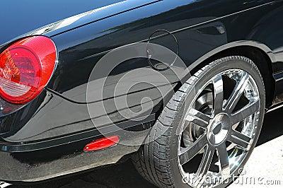 Particolare nero dell automobile