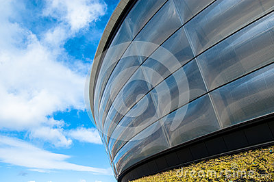 Particular of the Hydro concert arena in Glasgow.