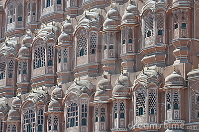 Particular of the palace of winds, India
