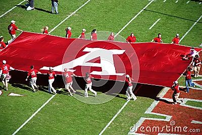 Partido de fútbol de Alabama. Foto editorial