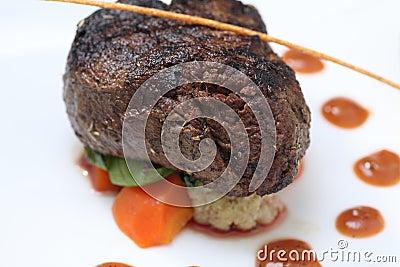 Partie de bifteck de filet
