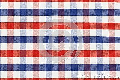 Partie de tissu Checkered