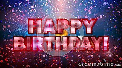 Partie méga de joyeux anniversaire ! illustration libre de droits
