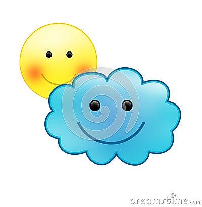 emoticons sunny cloudy - photo #15