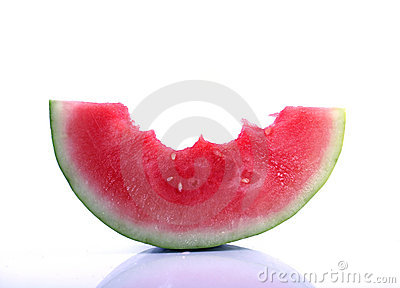 Partly eaten watermelon