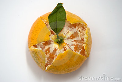 Partly Peeled mandarin