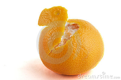 Partly Peeled Orange