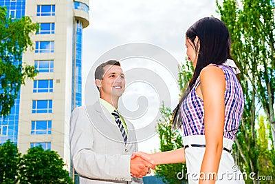 Partner shaking hands