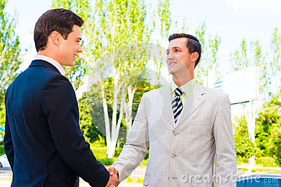 Partner shaking hands