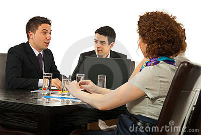 Partners having conversation