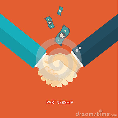 Partnership flat illustration.