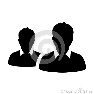 Free Partnership Icon Vector Male Group Of Persons Symbol Avatar For Business Management Team In Flat Color Glyph Pictogram Stock Images - 123808734