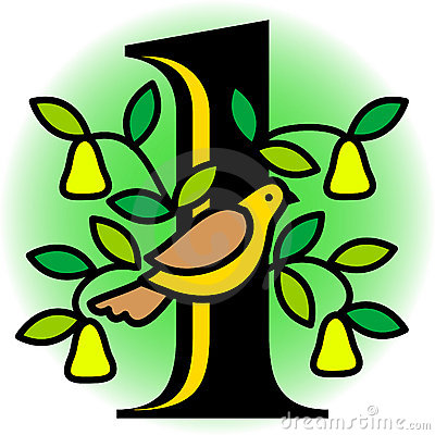 Free Partridge In A Pear Tree/eps Royalty Free Stock Photos - 3564018