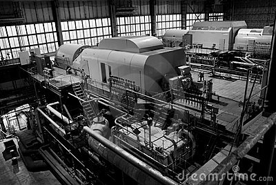 Parts and details of an steam turbine