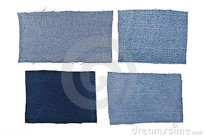 Parts of jeans material
