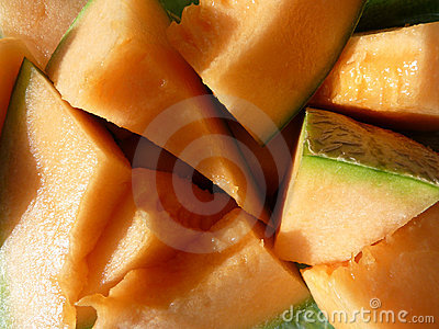 Parts of orange melon