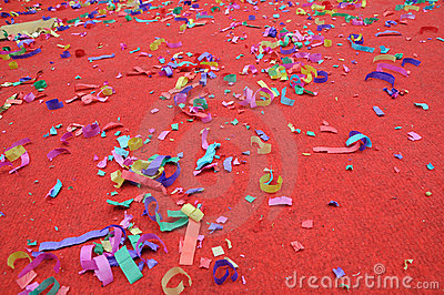 Party abstract confetti