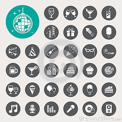Free Party And Celebration Icon Set. Stock Images - 35808674
