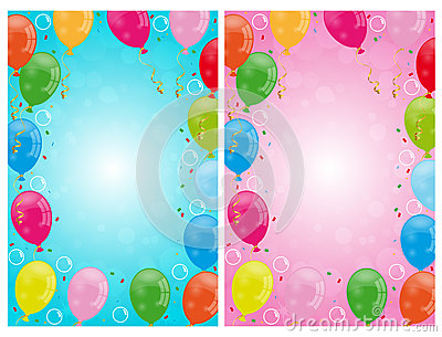Party balloons backgrounds