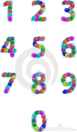 Party balloons numbers