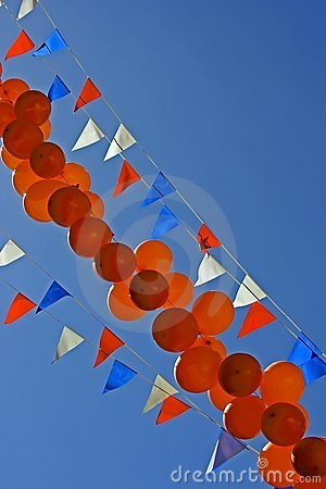 Party balloons at queensday