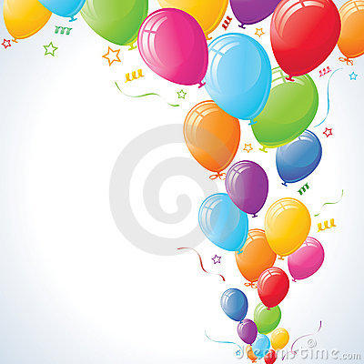 Party Balloons Rising