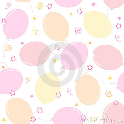 Party balloons seamless pattern