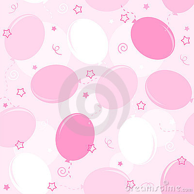 Free Party Balloons Seamless Pattern Royalty Free Stock Image - 17179496