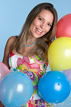 Party Balloons Woman