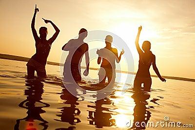 Party on beach