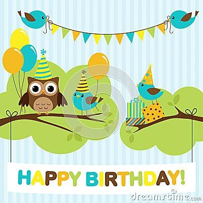 Party birds card