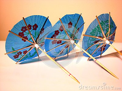 Party blue umbrellas