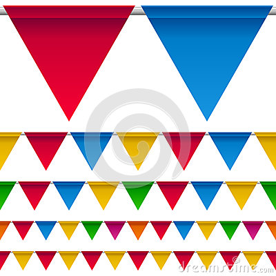Party Bunting Flags Border