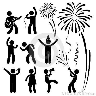 Free Party Celebration Event Festival Pictogram Royalty Free Stock Image - 22059726