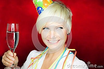 Party celebration woman