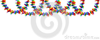 Party decorations garland isolated on white