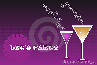 Party drinks - vector