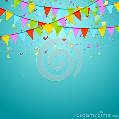 Free Party Flags Colorful Celebrate Abstract Background Stock Image - 55448921