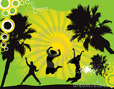 Party Flyer background Illustration  Disco