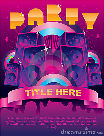 Free Party Flyer Card Royalty Free Stock Image - 12197476